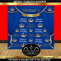 Royal Prince Birthday Backdrop