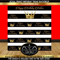 Royal Crown Birthday Backdrop