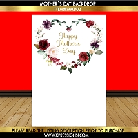 Floral Heart Mother's Day Backdrop