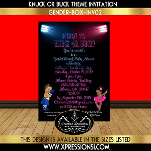 Knuck or Buck with Sneakers Gender Reveal Invitation