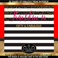 Black and White Stripes with Hot Pink Backdrop