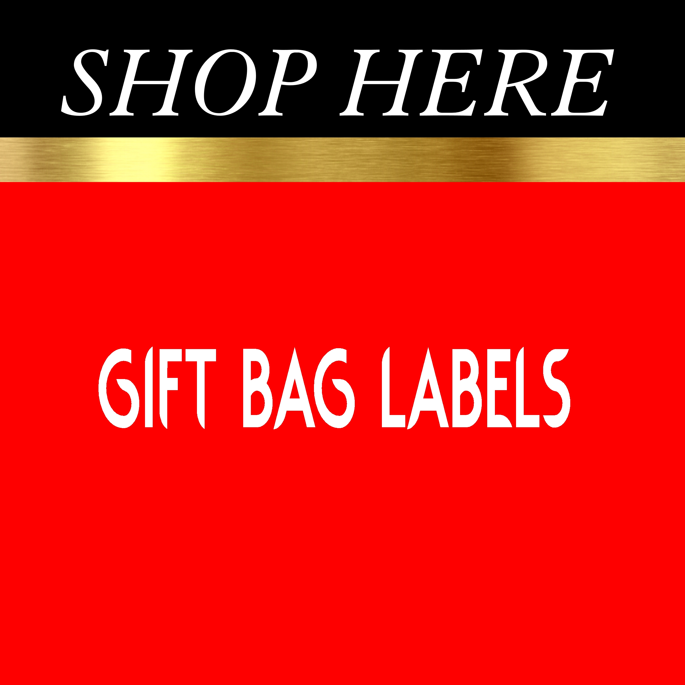 Gift Bag Labels
