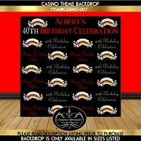 Gold Cards Birthday Backdrop
