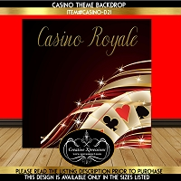 Casino Gold Cards Backdrop