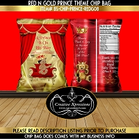 Royal Prince on Red Throne with Name Header Chip Bag
