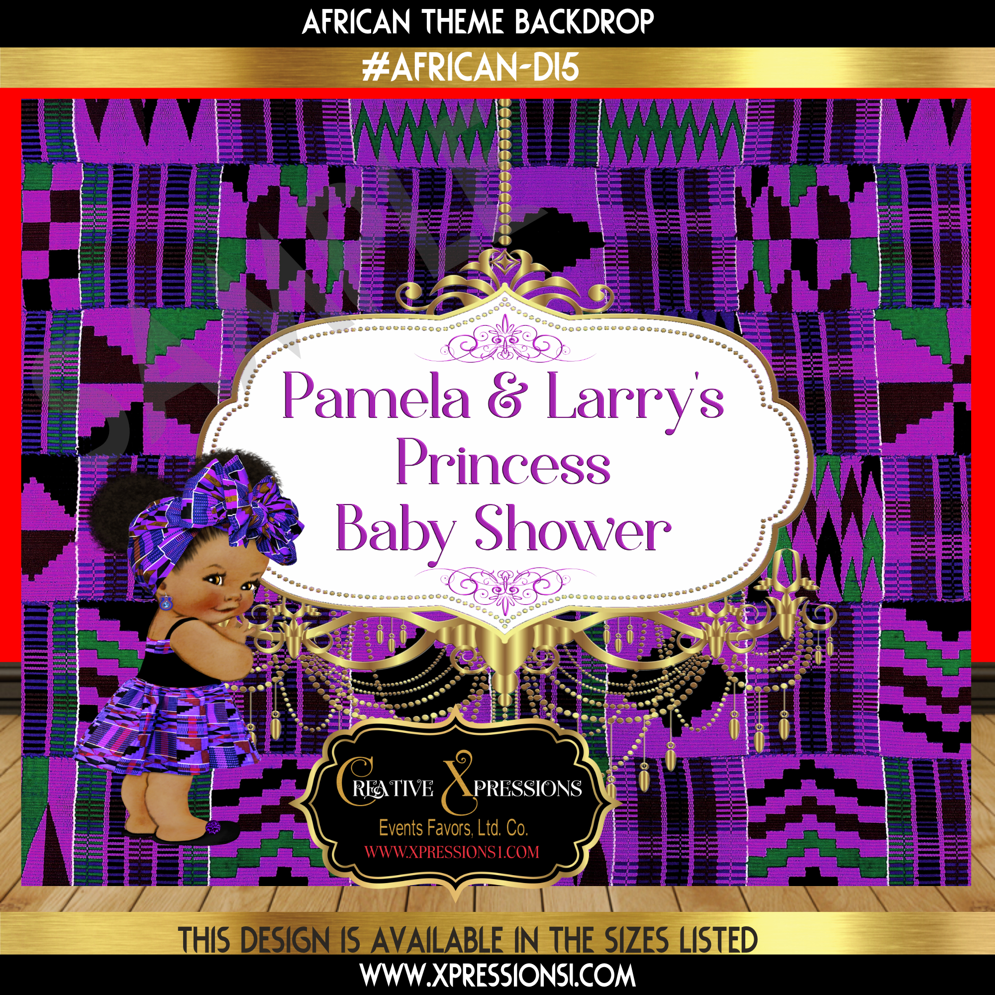 African Princess Purple Backdrop