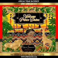 African Theme Baby Shower Backdrop