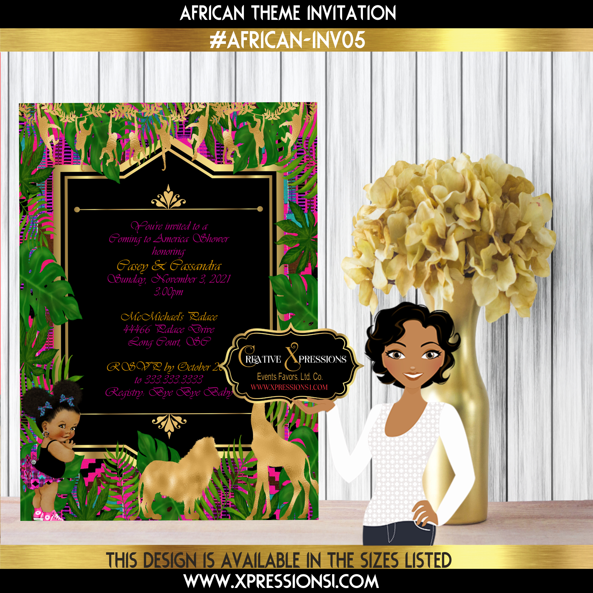 African Couture Invitation