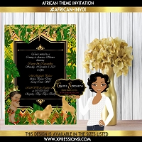 African Prince Invitation