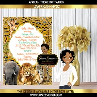 African Safari Prince Invitation