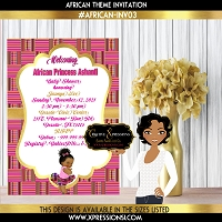African Ballerina Princess Invitation
