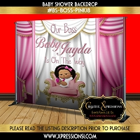 Diva Boss Baby Backdrop