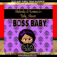 Boss Baby Damask Elegance Baby Shower Backdrop
