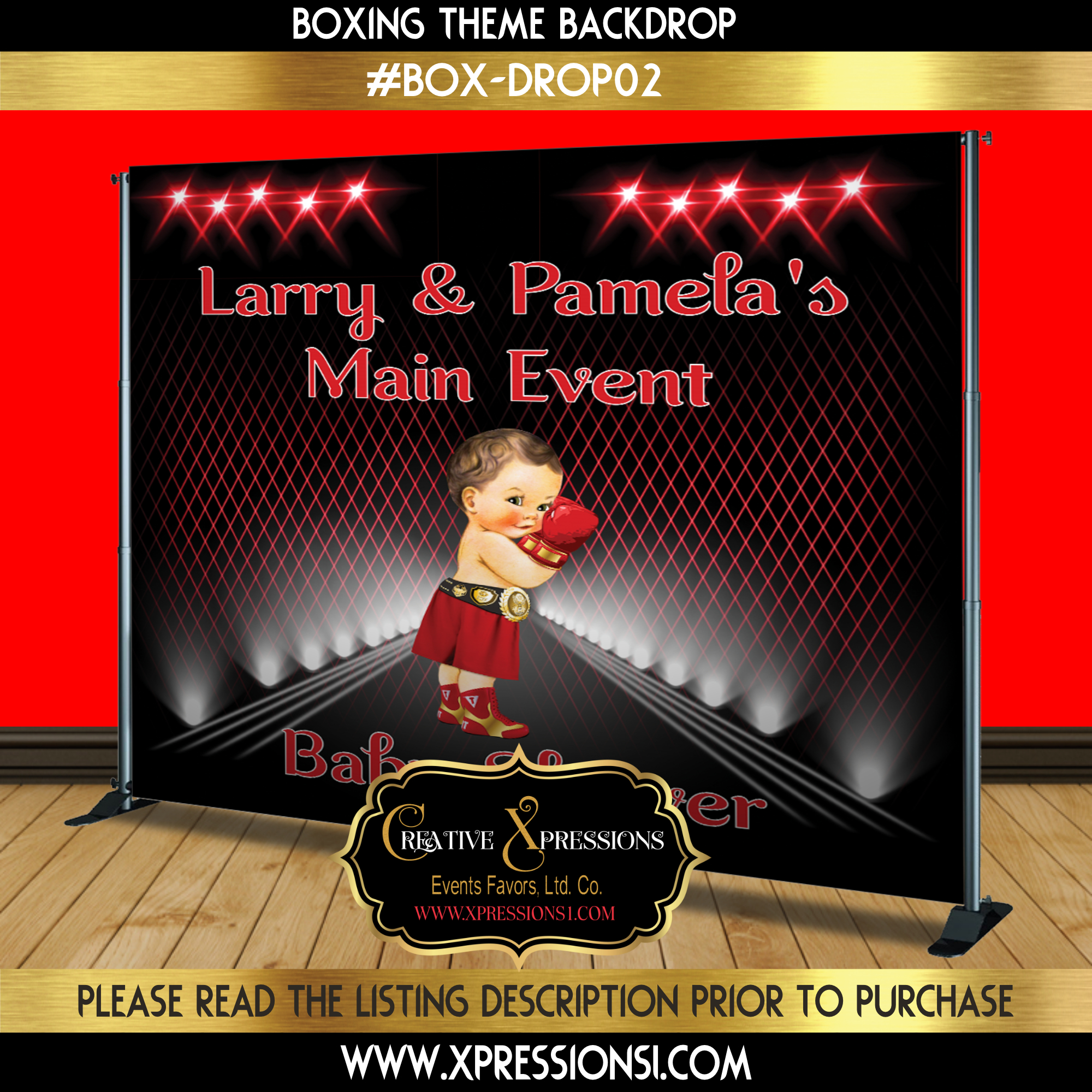 Red Boxing Backdrop