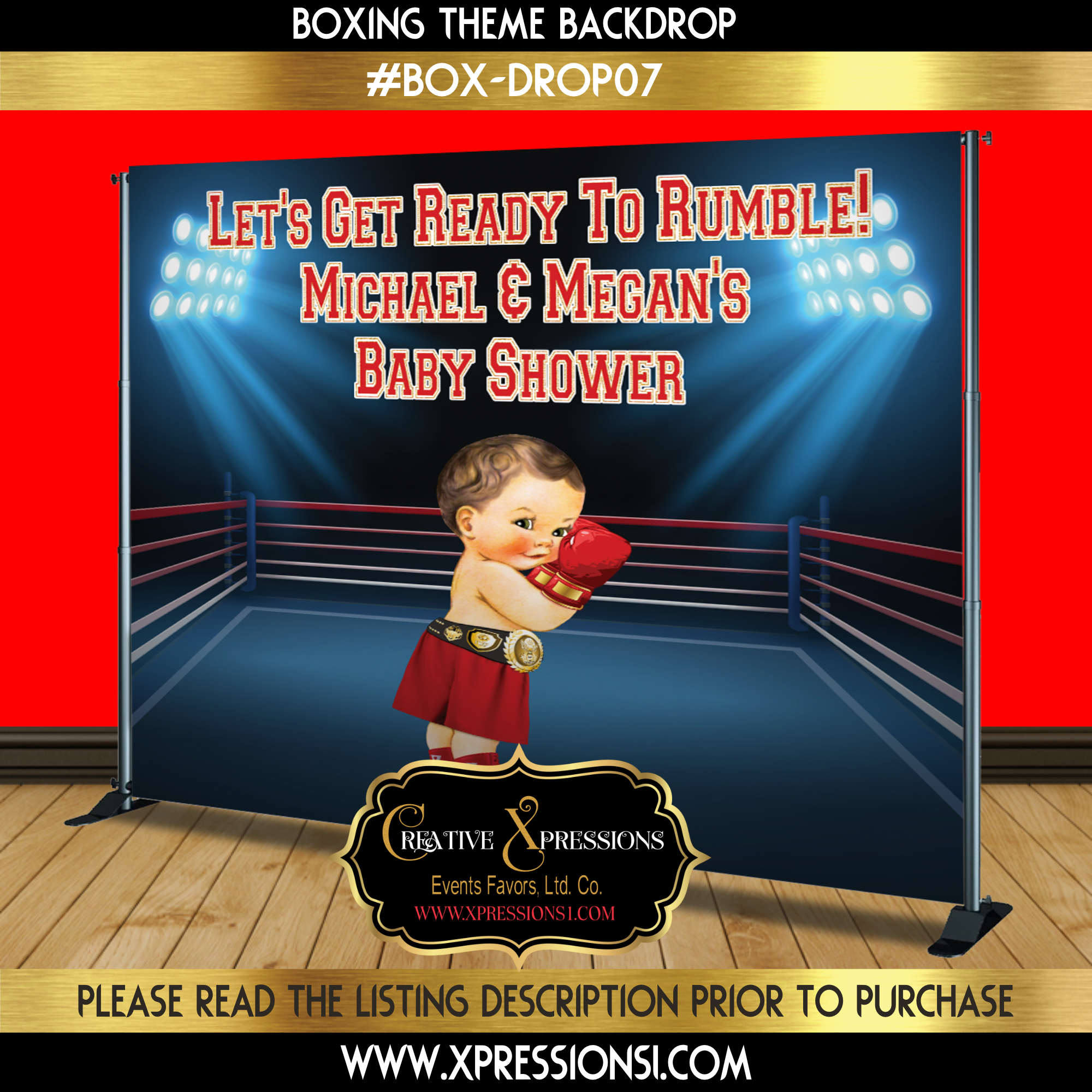 Boxing Champ Backdrop