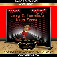 Main Event Red Boxing Backdrop