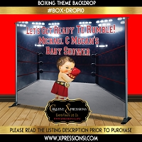 Boxing Champ in Red Backdrop