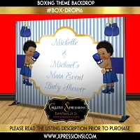 Baby Shower Boxing Theme Backdrop