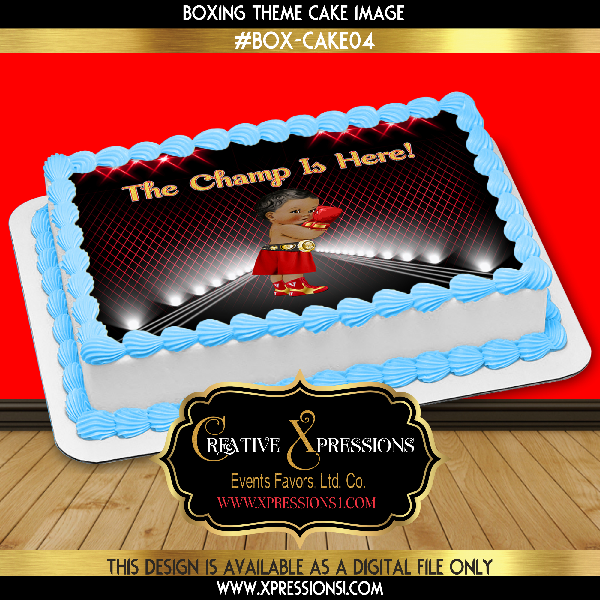 Boxer in Red Cake Topper