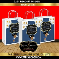 Daisy Baby Shower Gift Bag Label