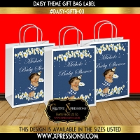 Flowing Daisy Gift Bag Label