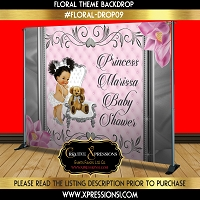 Diva Princess on Silver Frame Backdrop