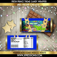 Fresh Prince Blue Candy Wrapper