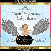 Heaven Sent Angel Baby Shower Backdrop