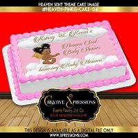 Heaven Sent Sheet Cake Topper