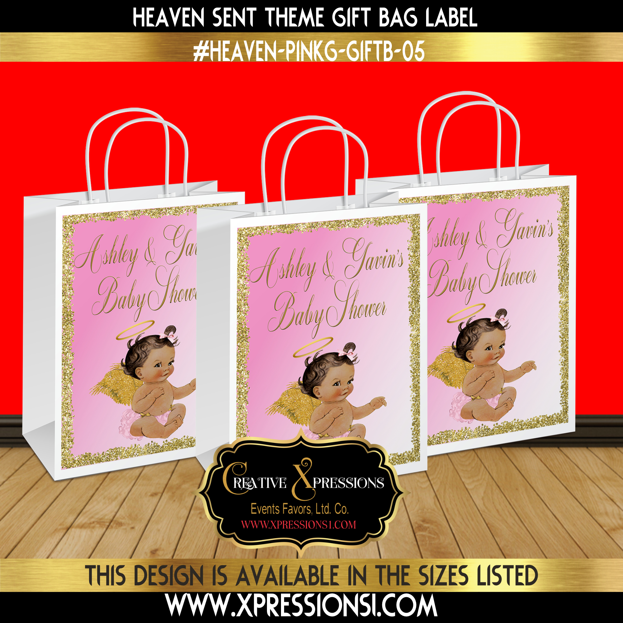 Glitter Border Gift Bag