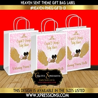 Sleeping Angel Gift Bag Label