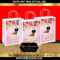 Floral Angel Gift Bag Label