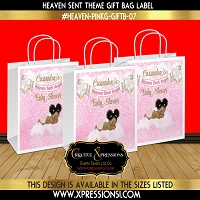 Pink Bokeh Gift Bag Label