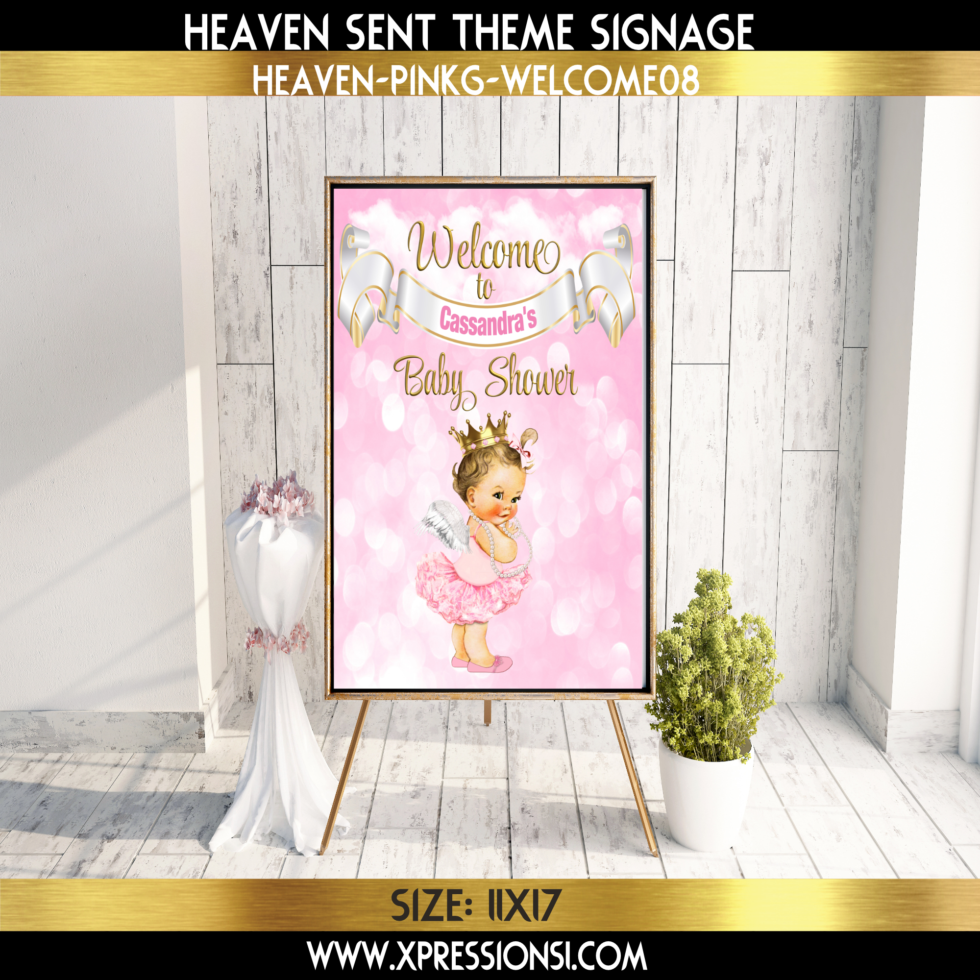 Heaven Sent Angel Welcome Sign