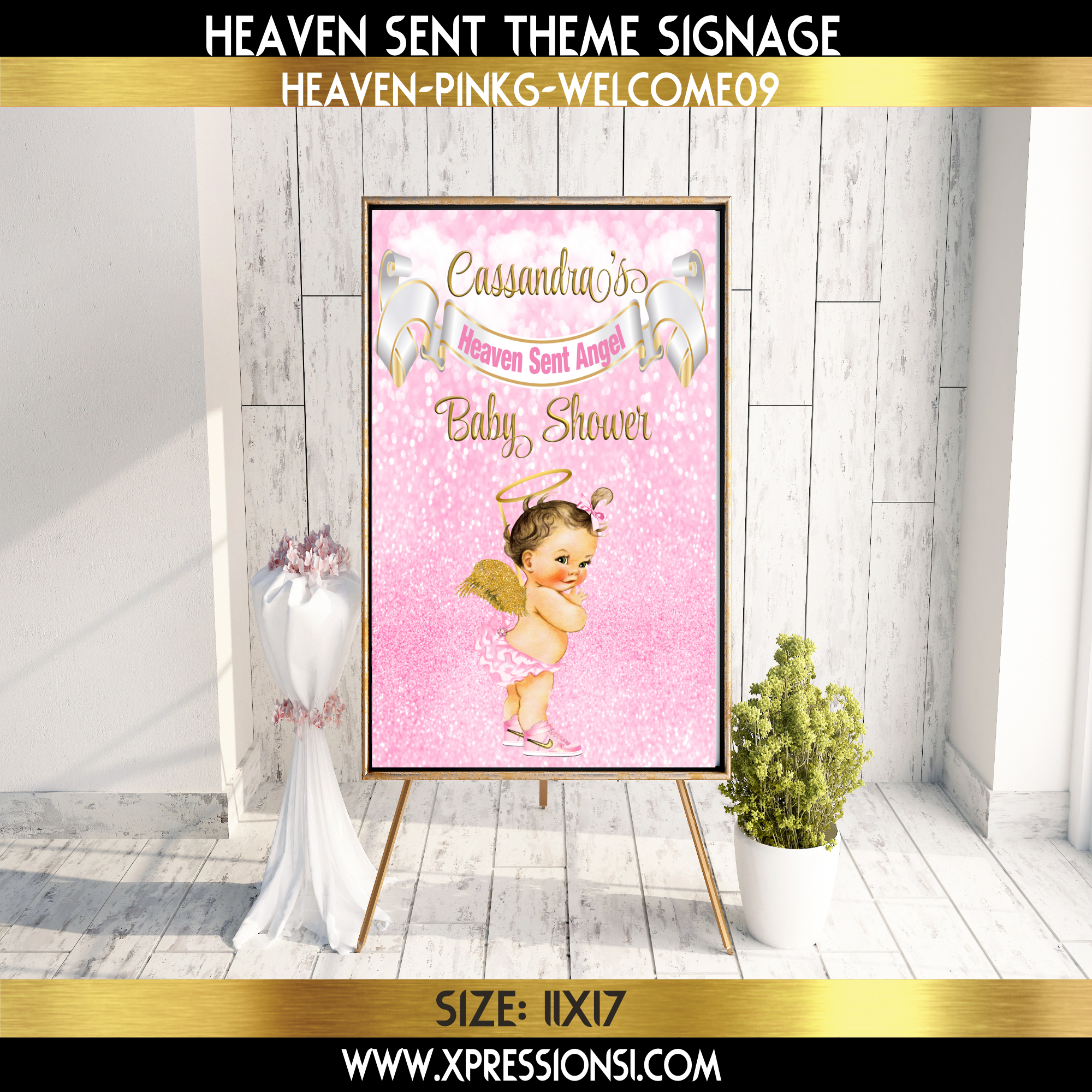 Angel in Sneakers Welcome Sign