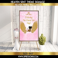 Angel with Wings Welcome Sign