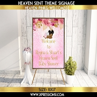 Angel with Florals Welcome Sign