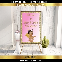 Glitter Border Welcome Sign