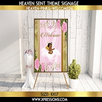 Floral Frame Welcome Sign