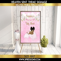 Heaven Sent Pink Bokeh Welcome Sign