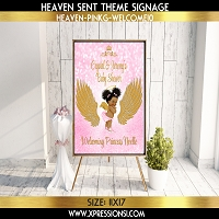 Golden Angel Wings Welcome Sign