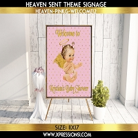 Angel on Dots Welcome Sign