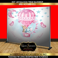 Baby Shower Hot Air Balloon Backdrop