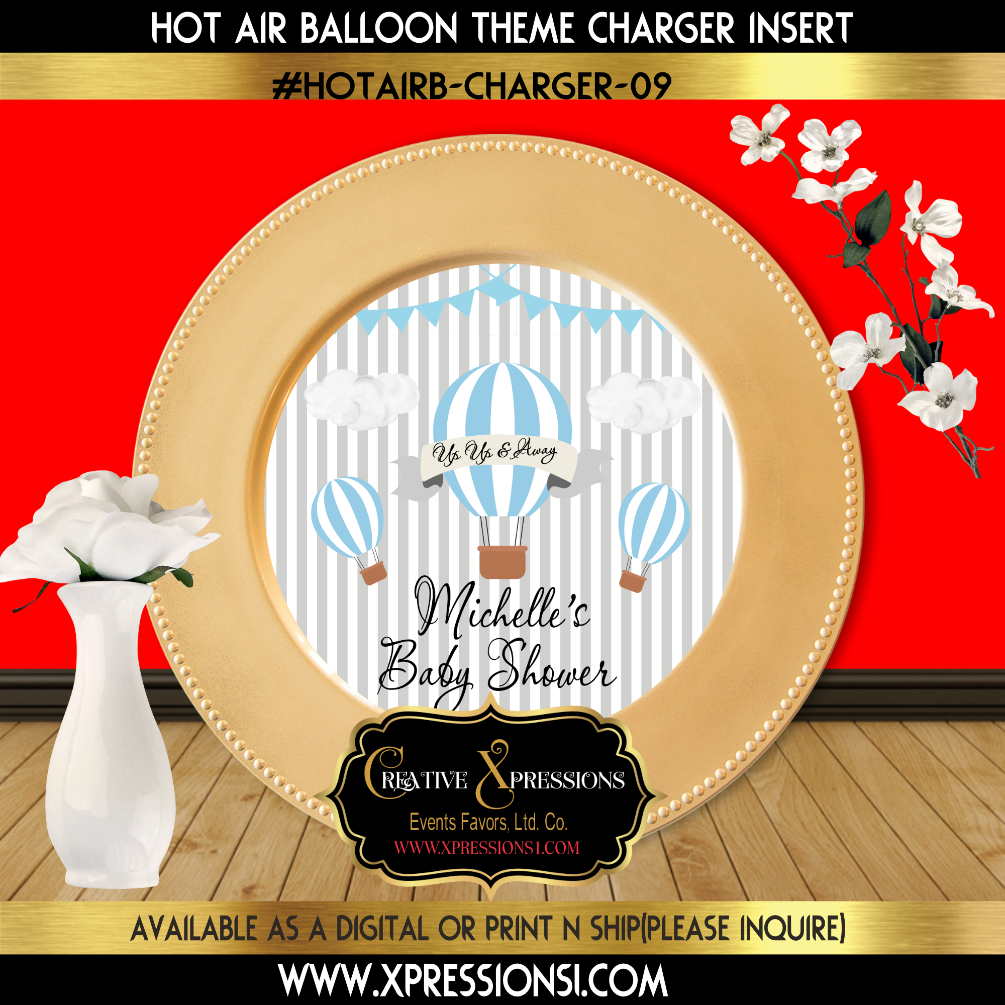 Hot Air Balloon Charger Insert