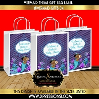 Mermaid Elegance Gift Bag Label