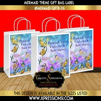 Magical Under the Sea Gift Bag Label
