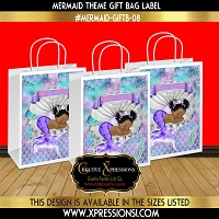Mermaid Gift Bag Label