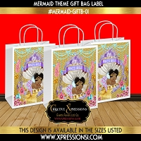 Mermaid Gold Gift Bag