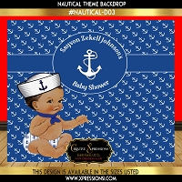 Nautical Theme Baby Shower Backdrop