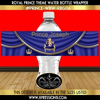 Prince with Sneakers Water Bottle Wrapper